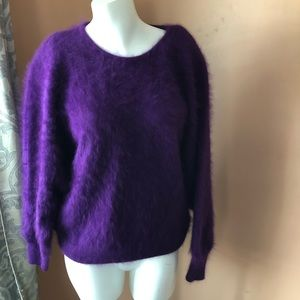 Gorgeous vintage angora sweater purple